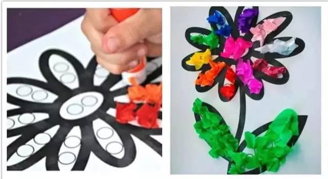 幼儿手工皱纹纸粘贴画-多款幼儿园皱纹纸手工制作 美到爆