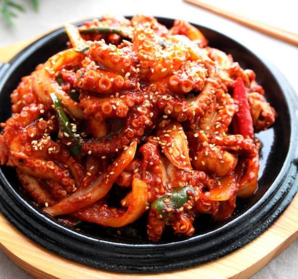 韩式辣炒章鱼图章鱼小丸子的章鱼怎样处里图片