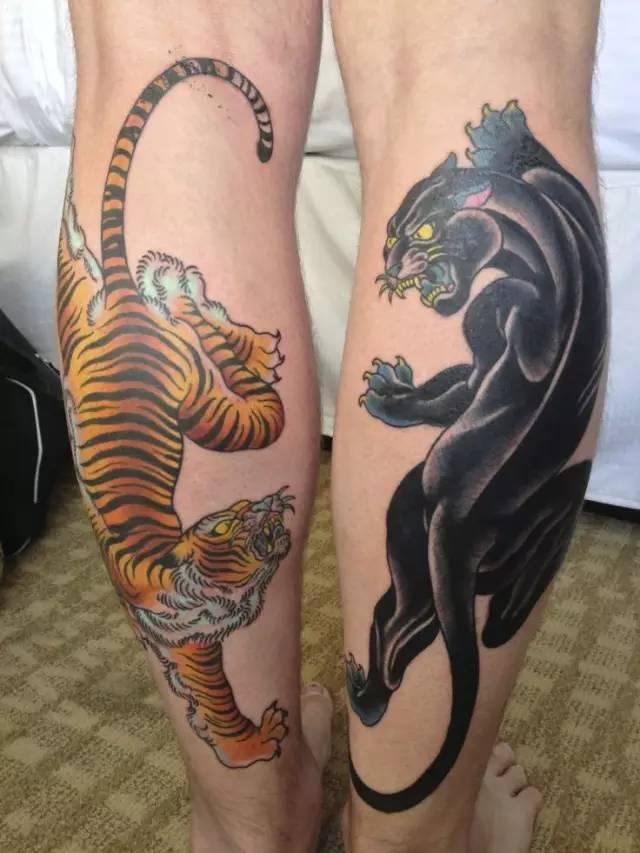 纹身丨四大风格的小腿纹身,你最 care 哪一种?图片