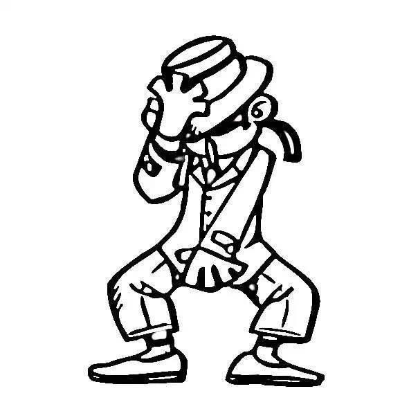 人物简笔画迈克尔杰克逊人物简笔画,舞者简笔画 简笔画 故事中国