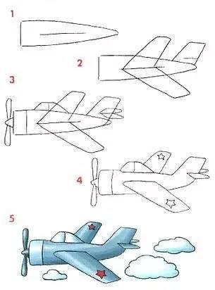 儿童简笔画:一起画火箭飞机,给自己小小的满足