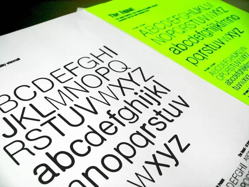 字体 笔画不一样粗细 却是完美的平衡