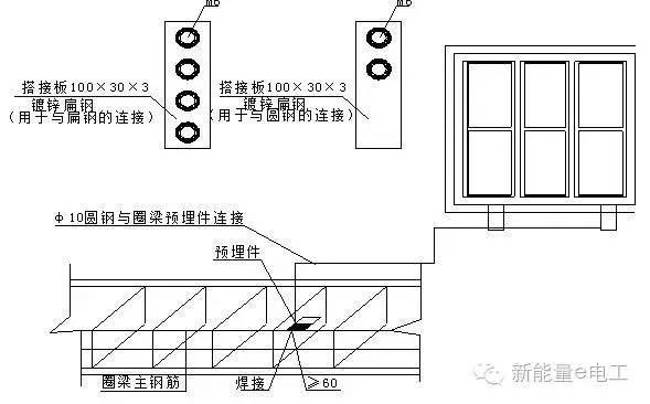 cad吊顶平面图-电气施工安装细部做法图文详解大全