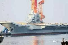 国产航母最新进展曝光 又在安装脚手架