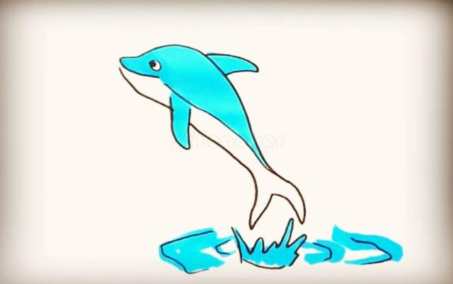 园海洋动物系列简笔画大全