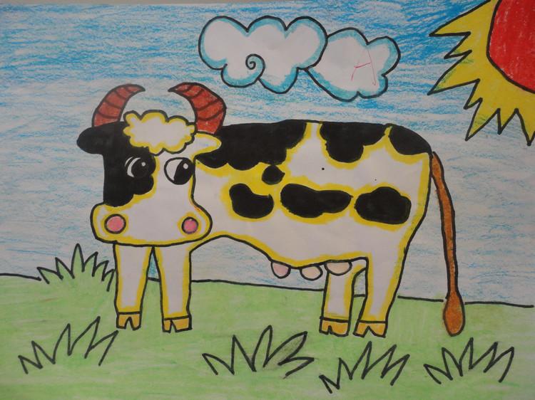 相比月月画的蓝天白云,绿树草地来说,我倒是觉得小龙画出的这种萧瑟图片