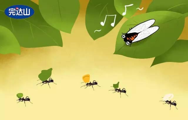 蚂蚁和蝉的故事���#_所以今天要孩子们讲一篇关于劳动的小故事,叫《蚂蚁和蝉》.
