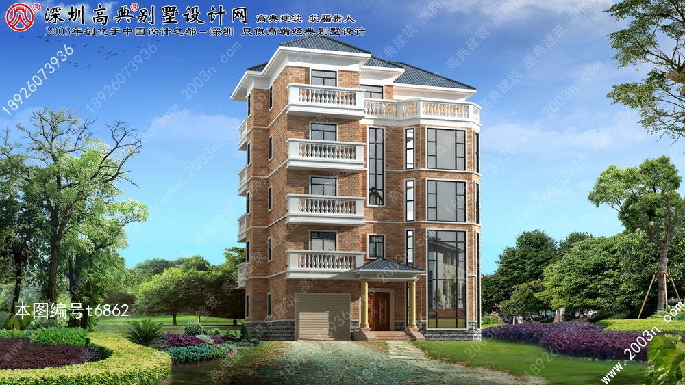 农村五层别墅设计图首层165平方米