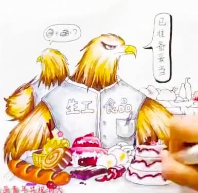 """浙大女生手绘史上最帅""""求是鹰"""",祝福浙大百廿生日快乐"""