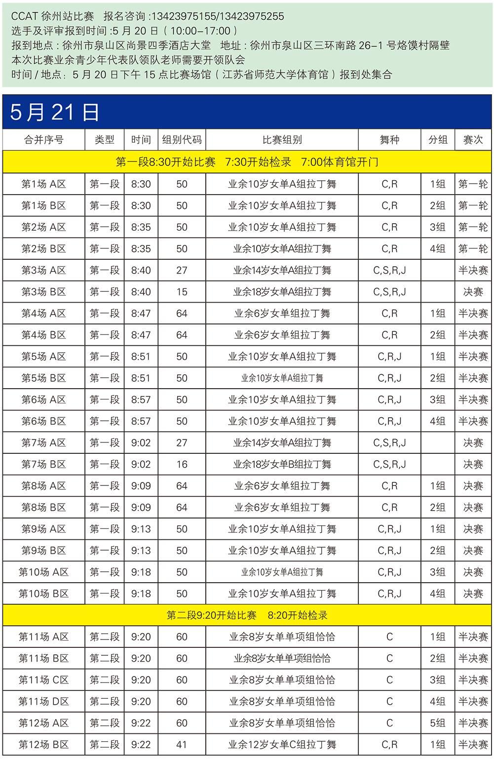 【赛程】2017CCAT国际标准舞全国城市联赛(徐州站)