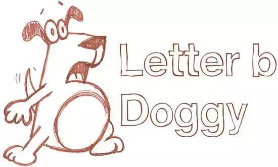 儿童简笔画 陪小孩用字母与图形画出可爱的小狗吧