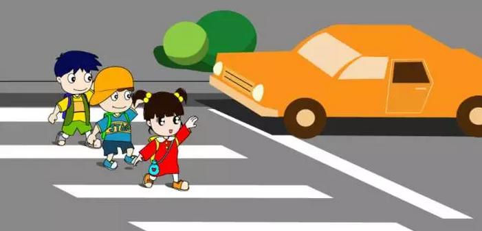 我们要在过马路的位置停下来,不是停在马路上,是停在人行道上,这是一图片
