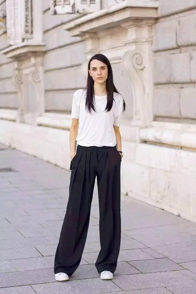 是谁说娇小的女生不能穿宽裤? 只要学会这些技巧再矮都可以穿宽裤