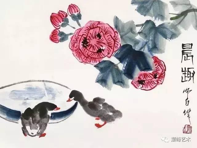娄师白作品 可爱的小鸭子