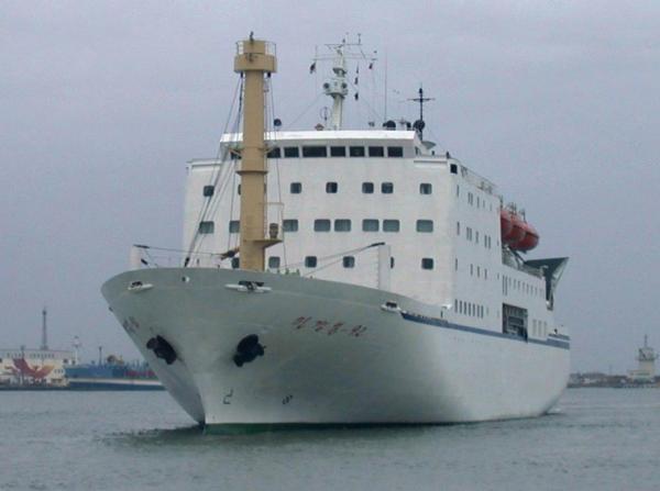 朝鲜至俄罗斯首班客货两用轮从罗津港今晚启航,每月往返6次(图)