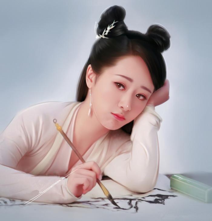 女星手绘图热巴可爱郑爽呆板,赵丽颖大胆不忍直视