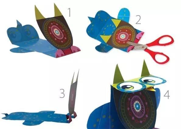 8款幼儿园六一创意亲子手工立体折纸,附模板!