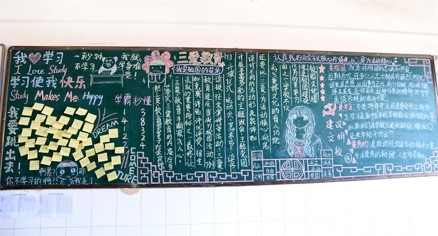 创全国文明城市班级文化板报创意十足