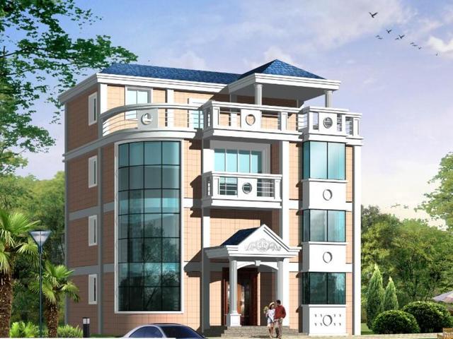 推荐40万豪华三层农村别墅自建房设计图
