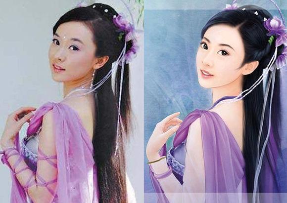 女星手绘古装,刘亦菲本尊比手绘美!