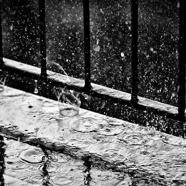 雨点落在水面,溅起的层层涟漪,也是一个好的拍摄点.-NO 明天开始图片