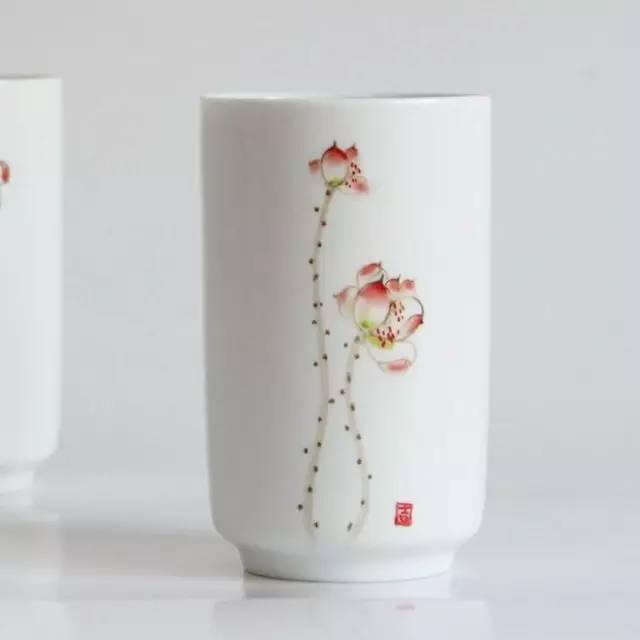 陶艺diy 「 画坯:手绘风格杯」  手绘陶瓷杯