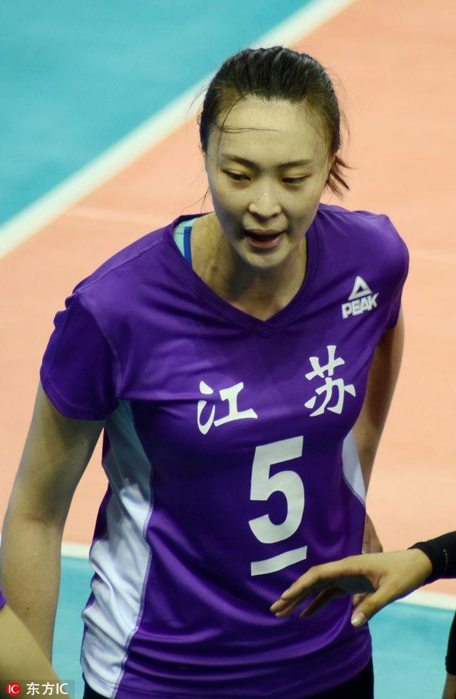 全运会女排预赛北京3 1取胜江苏 曾春蕾爆发立汗马功劳