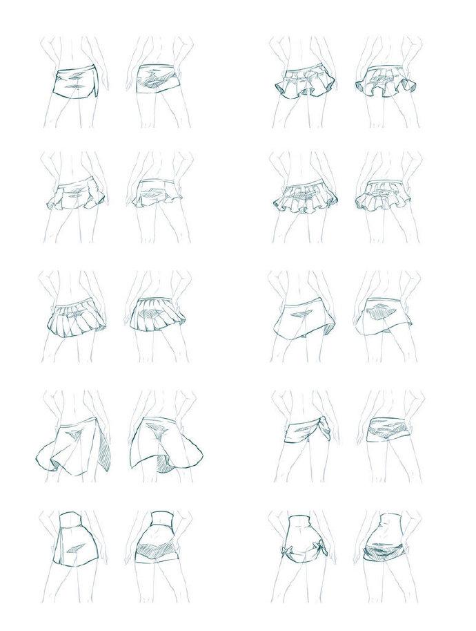 小女孩的裙子绘画设计参考|怎么画裙子