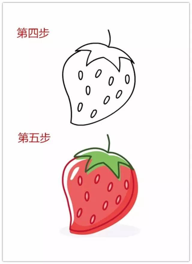 儿童水果简笔画教程,太棒了,一看就会!
