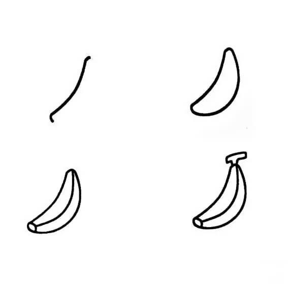 香蕉的简笔画