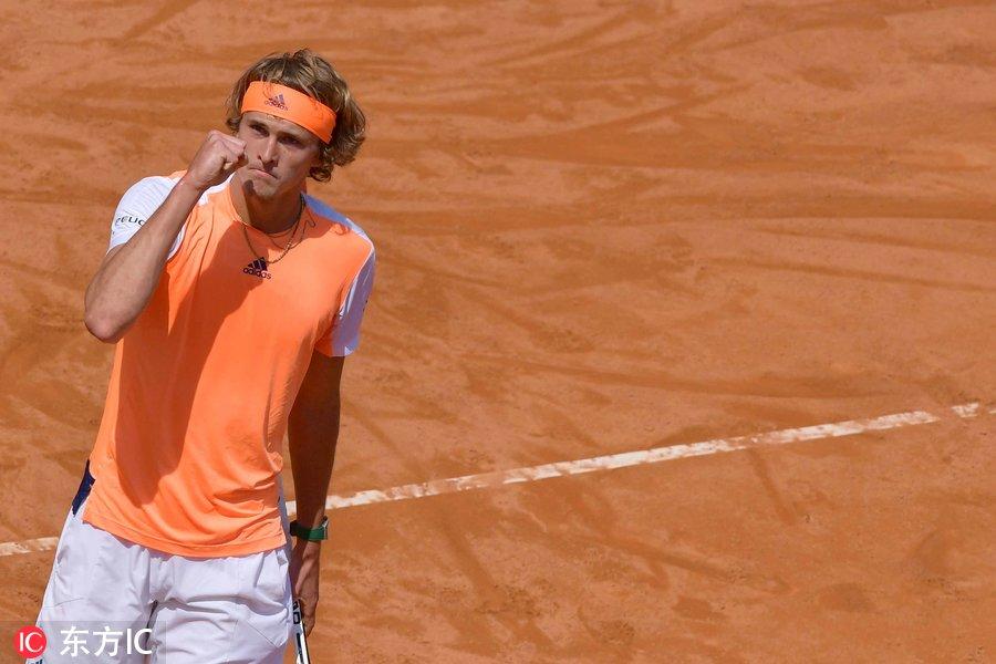 罗马大师赛1/4决赛:小兹维列夫直落两盘胜拉奥尼奇