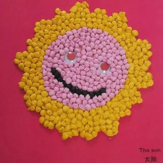 幼儿园创意手工,揉纸画 搓纸画!