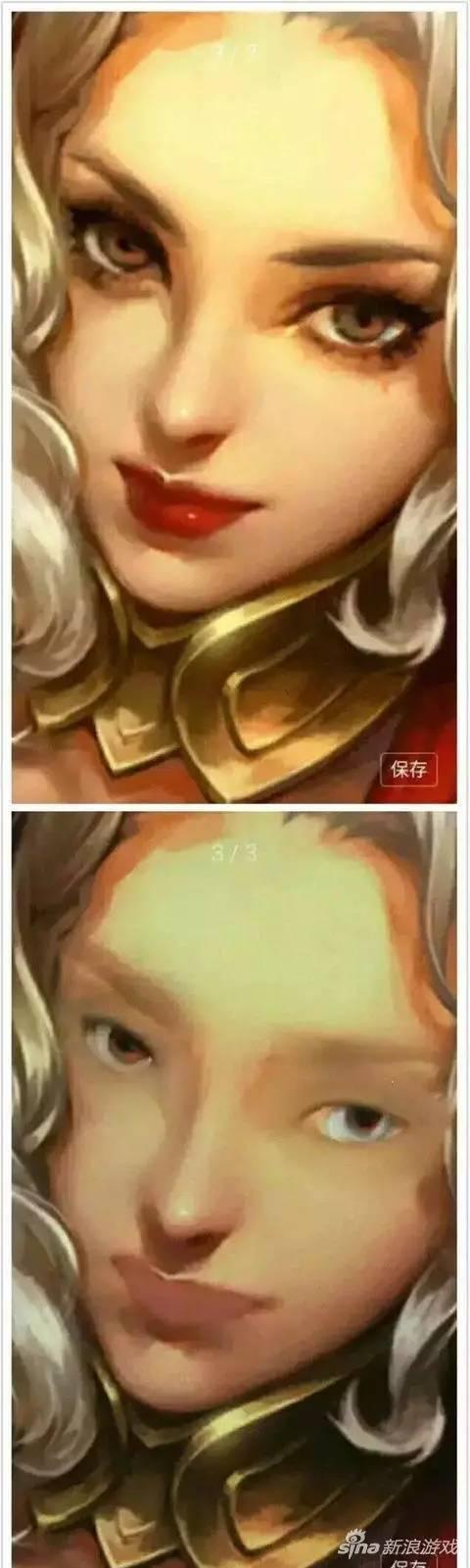辣眼睛!如果王者荣耀的女神卸了妆,你还会爱她吗