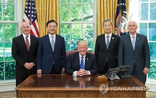 韩总统特使:韩美双方在重大问题上仍存意见分歧(图)