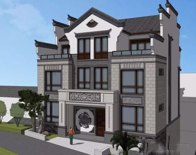徽式建筑淡雅的建筑色彩,简约的建筑符号,这种清新雅淡,给人一种内涵图片