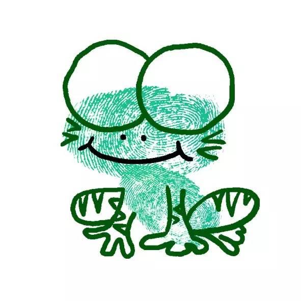 小青蛙简笔画彩色 幼儿园