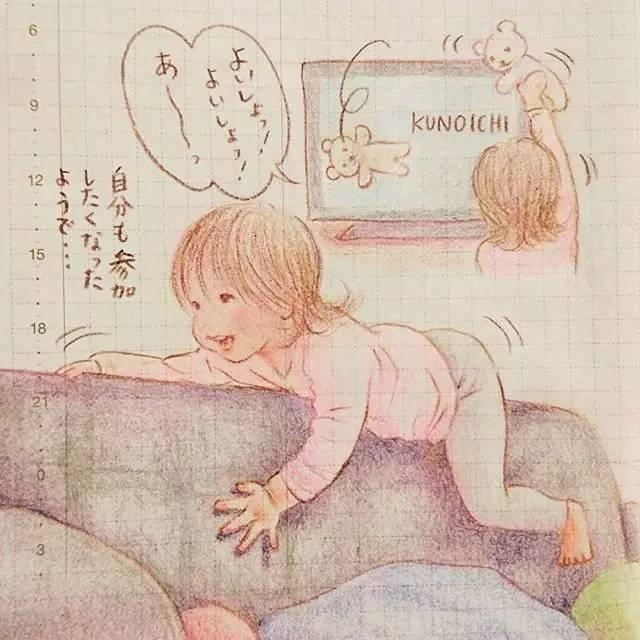小孩刷牙图片手绘