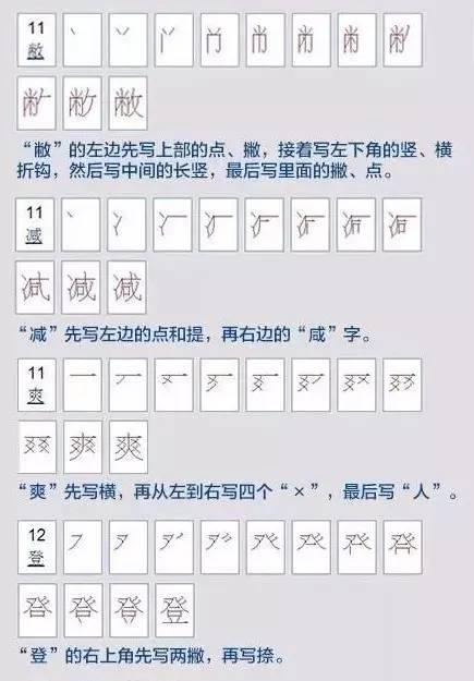 母笔顺笔画顺序-汉字笔顺规则,看看孩子的笔顺写对了吗