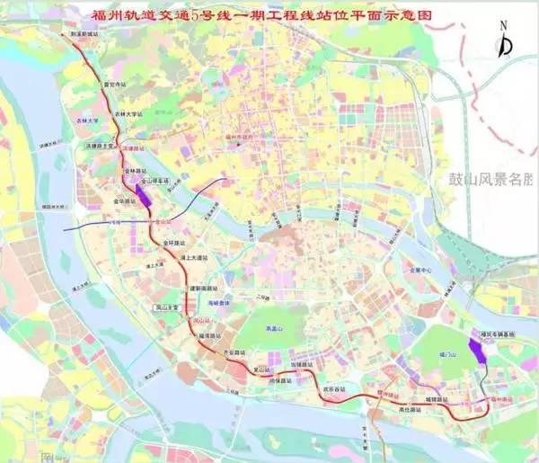 福州地铁5号线远期拟延伸至甘蔗 初步计划取消一站点图片 48344 600x
