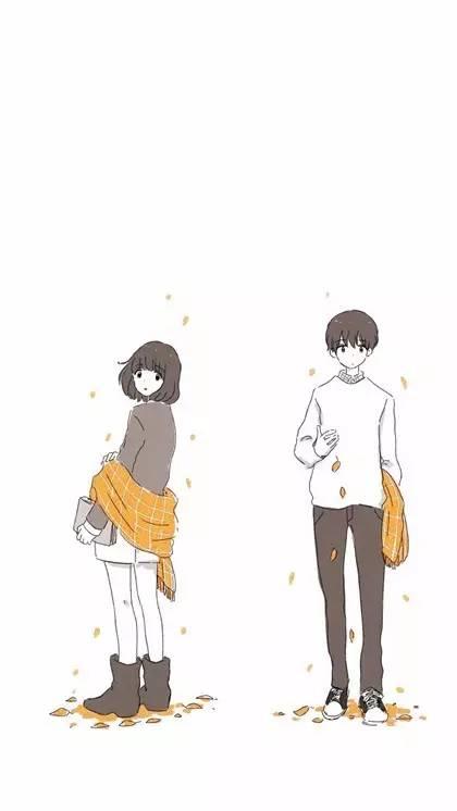 【唯美】手绘情侣图片手机壁纸
