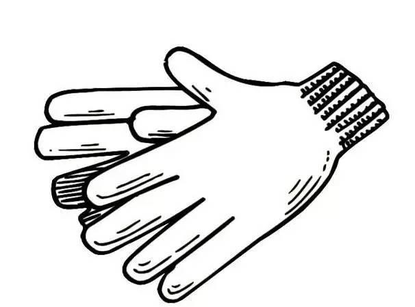 手套物品简笔画图片