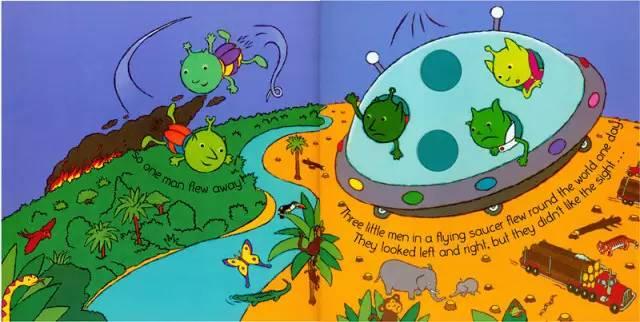 教育 正文  五个从外太空来的小外星人,乘坐飞船来到地球上空,他们图片