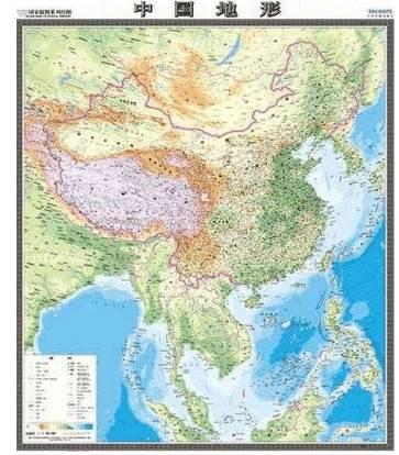 中国昆仑山脉地图