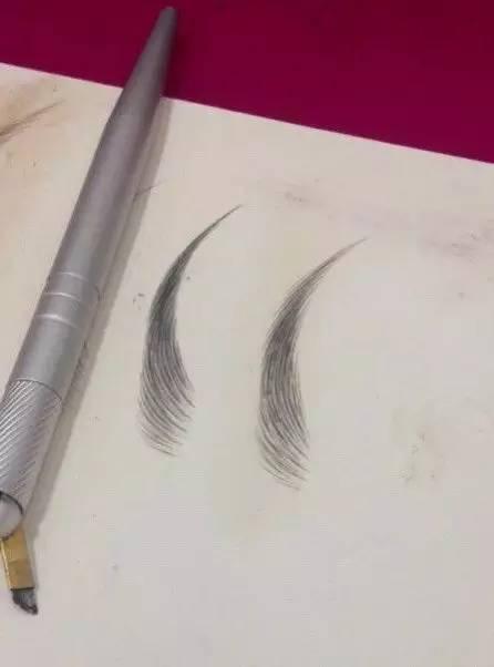 素描眉毛的画法图片