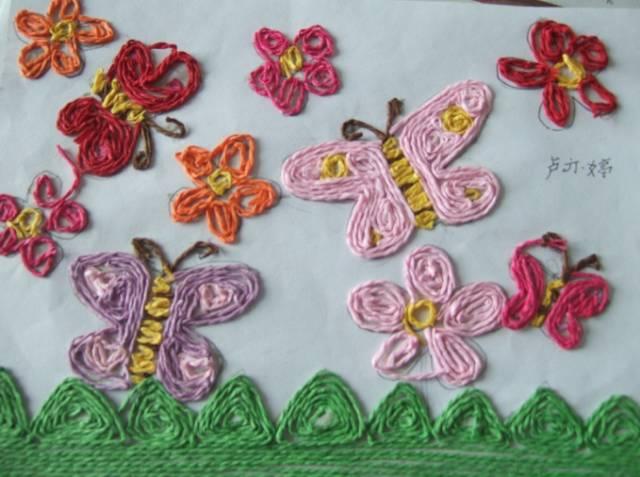 蝴蝶 卡纸剪贴画