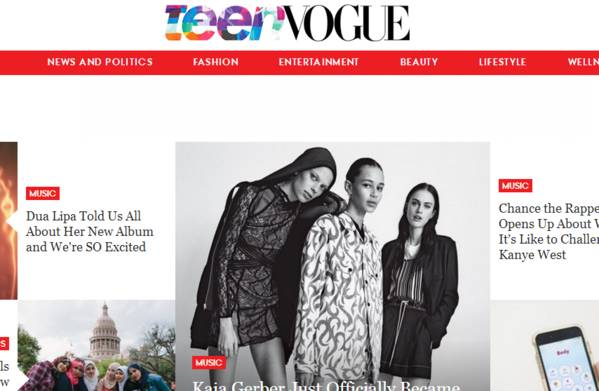 美国九本顶尖时尚杂志网站流量大比拼:《Teen Vogue》同比增加17