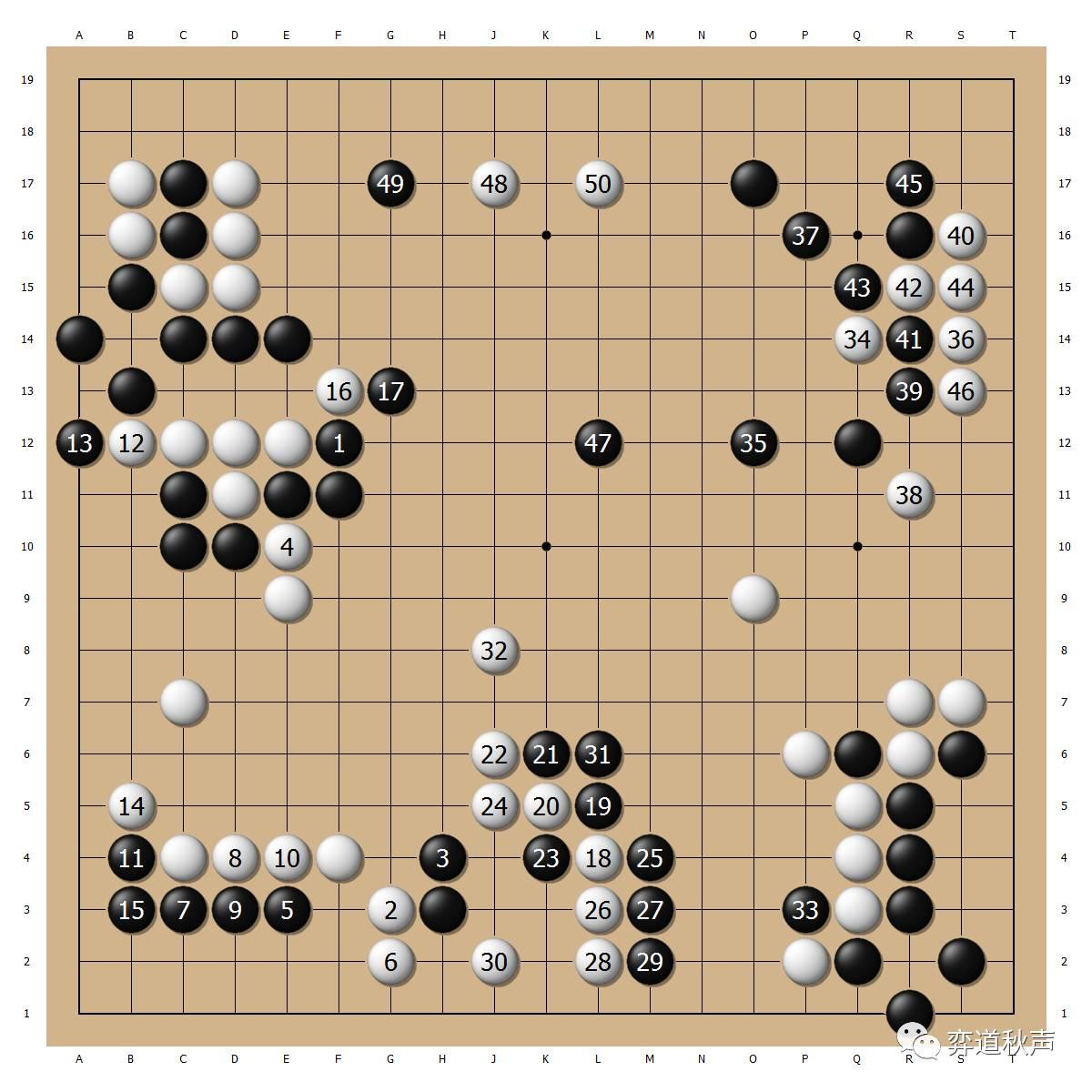 【组图】【每日佳局】人类围棋已经无法阻渡alphago 人机大战首局柯洁图片