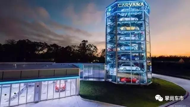 居然还有汽车贩卖机,投钱就可以提车!