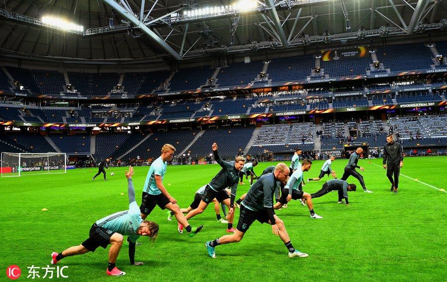 2017年欧联杯决赛前瞻:阿贾克斯踩场训练