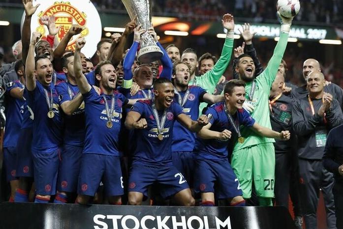 曼联2-0夺欧联杯冠军博格巴姆希塔良造红魔大满贯